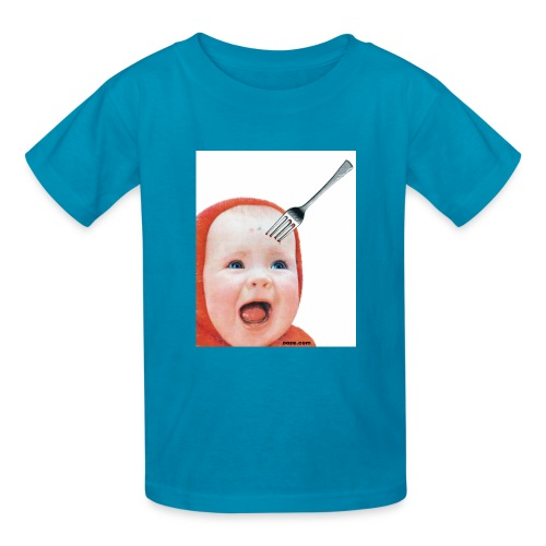 Baby with Fork in Head - Kids' T-Shirt