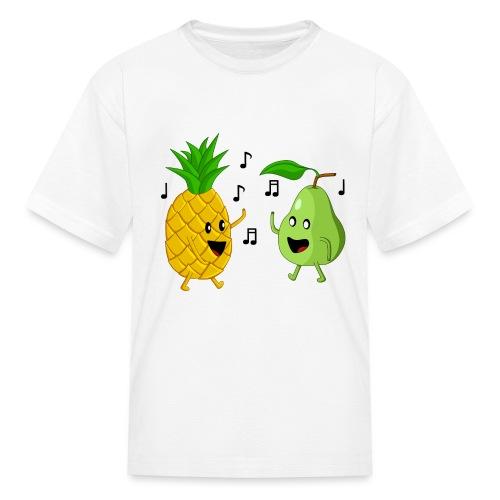 Dancing Pineapple and Pear - Kids' T-Shirt
