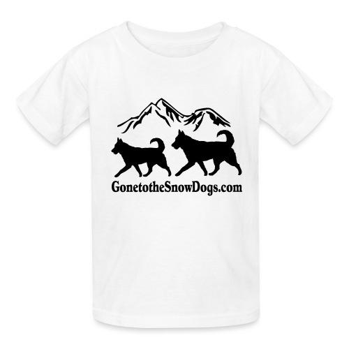 Snow Dogs with Mountain - Kids' T-Shirt