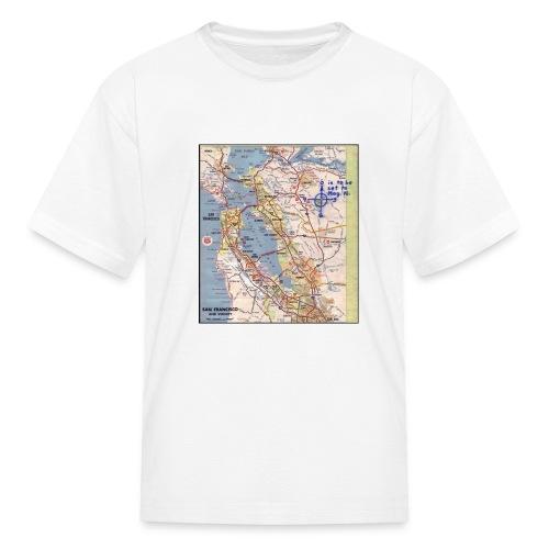 Phillips 66 Zodiac Killer Map June 26 - Kids' T-Shirt