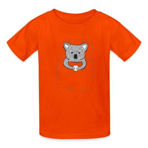 Print With Koala Lying In A Bed - Kids' T-Shirt