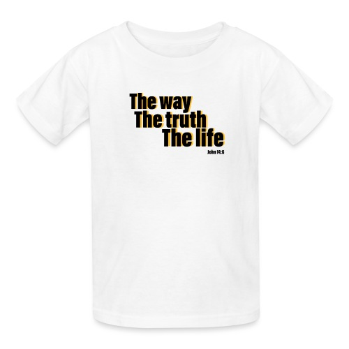 He is The way the truth the life logo - Kids' T-Shirt