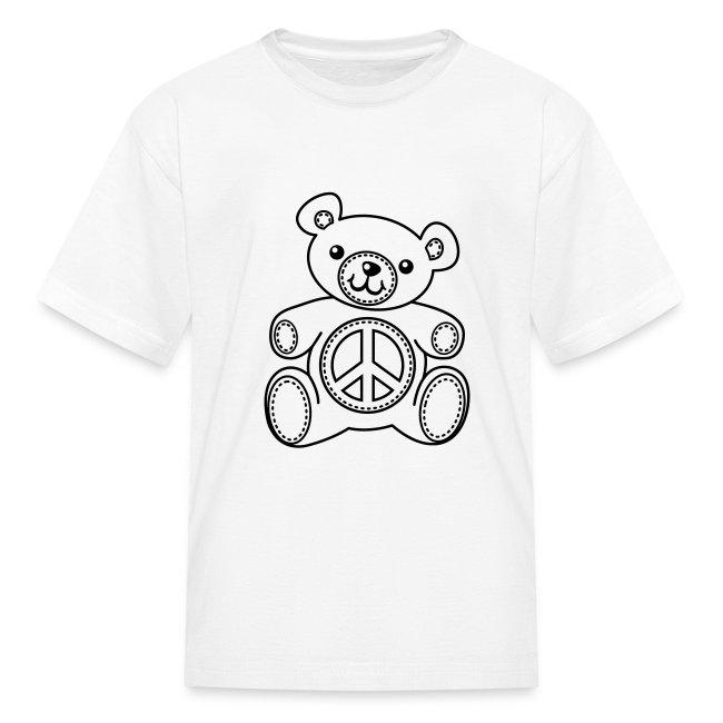 Teddy Bear Coloring T-shirt | Kids\' T-Shirt