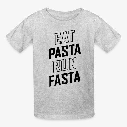 Eat Pasta Run Fasta v2 - Kids' T-Shirt