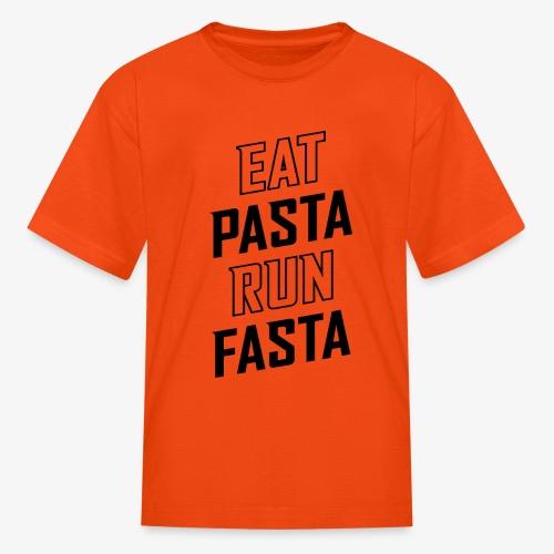 Eat Pasta Run Fasta v2 - Kids' T-Shirt
