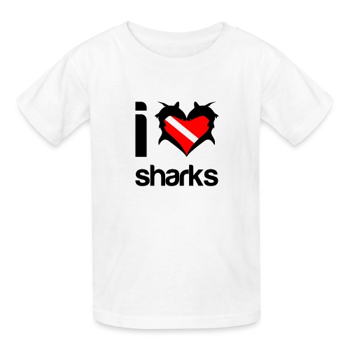 I Love Sharks - Kids' T-Shirt