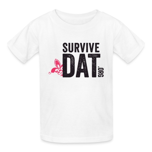 survive dat final logo stacked org color notag out - Kids' T-Shirt