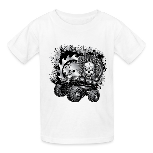 Metallic Monster Truck - Kids' T-Shirt