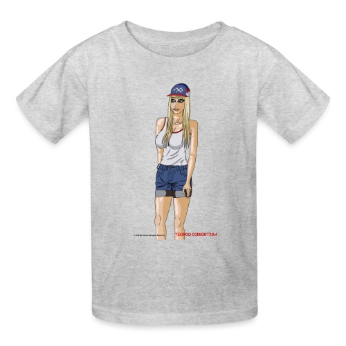 Gina Character Design - Kids' T-Shirt
