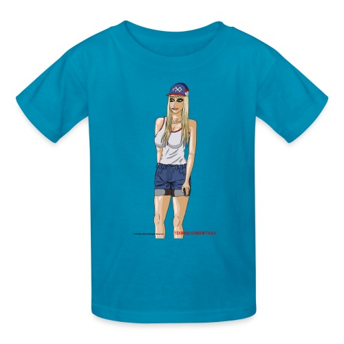 Gina Character Design - Kids' T-Shirt
