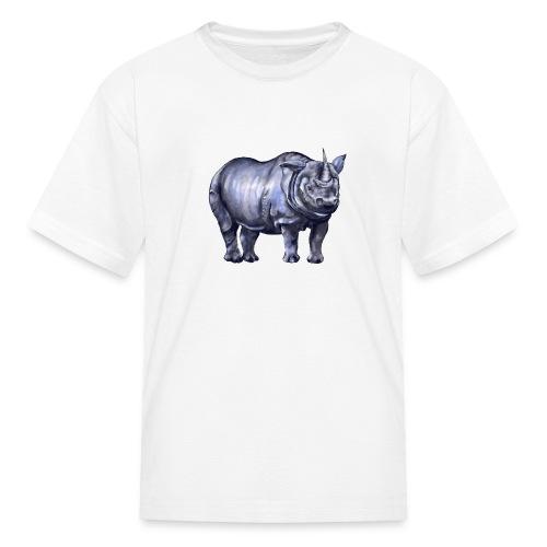 One horned rhino - Kids' T-Shirt