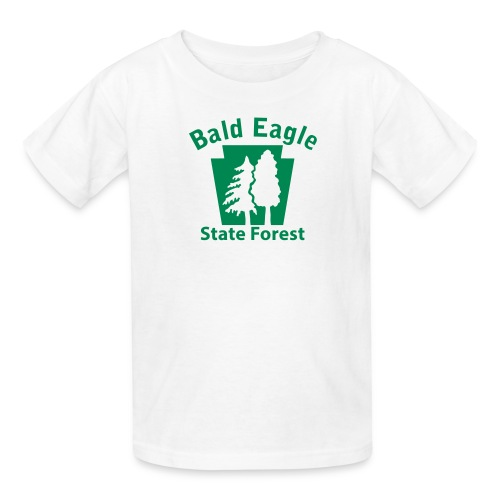 Bald Eagle State Forest Keystone (w/trees) - Kids' T-Shirt
