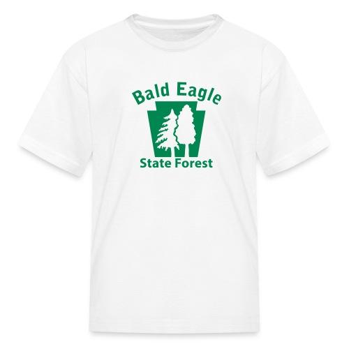 Bald Eagle State Forest Keystone (w/trees) - Kids' T-Shirt