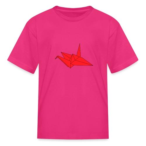 Origami Paper Crane Design - Red - Kids' T-Shirt