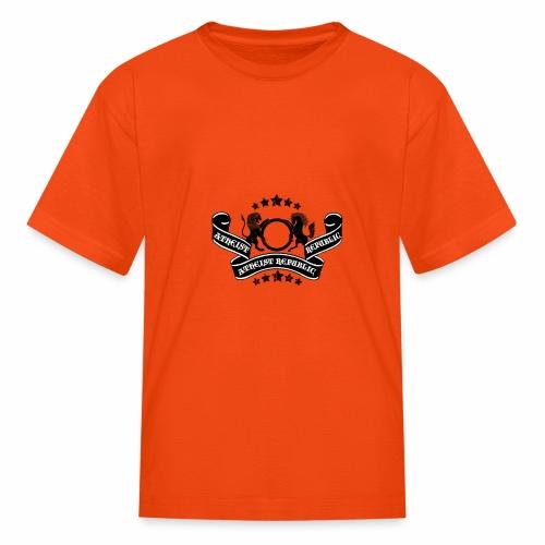Atheist Republic Logo - Banner & Stars - Kids' T-Shirt