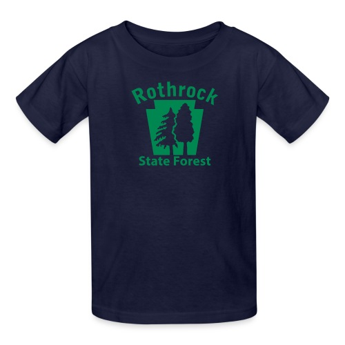 Rothrock State Forest Keystone (w/trees) - Kids' T-Shirt