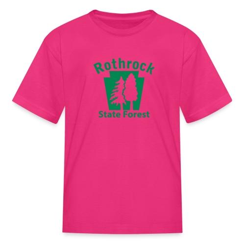 Rothrock State Forest Keystone (w/trees) - Kids' T-Shirt