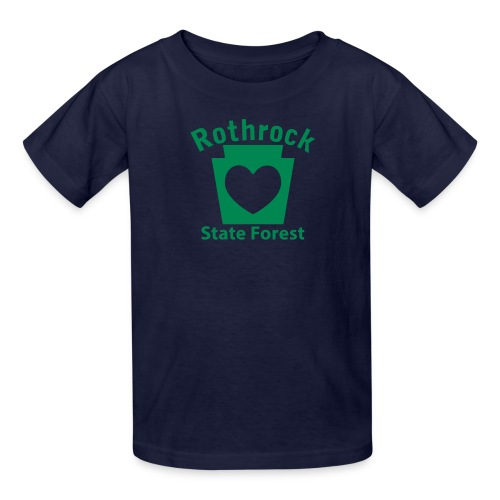 Rothrock State Forest Keystone Heart - Kids' T-Shirt