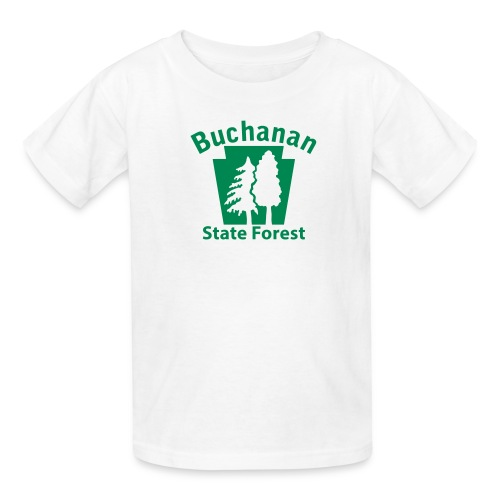 Buchanan State Forest Keystone (w/trees) - Kids' T-Shirt