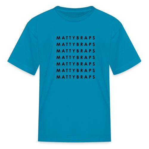 White Repeated Name - Kids' T-Shirt