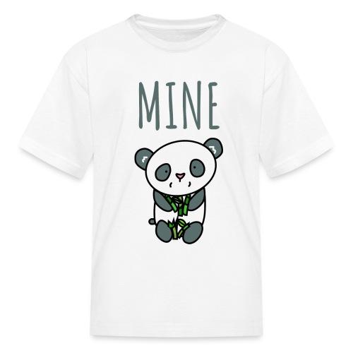 Cute Panda Eating And Holding Bamboo - Kids' T-Shirt