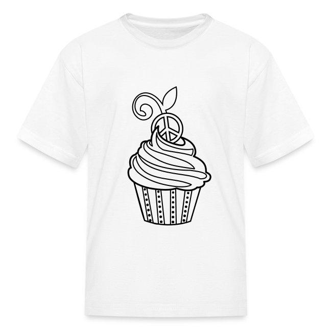 Cupcake Coloring T-shirt | Kids\' T-Shirt
