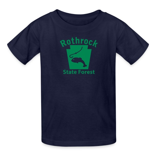 Rothrock State Forest Fishing Keystone PA - Kids' T-Shirt