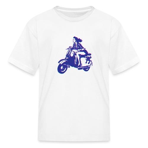 Cute Vespa Scooter Girl - Kids' T-Shirt