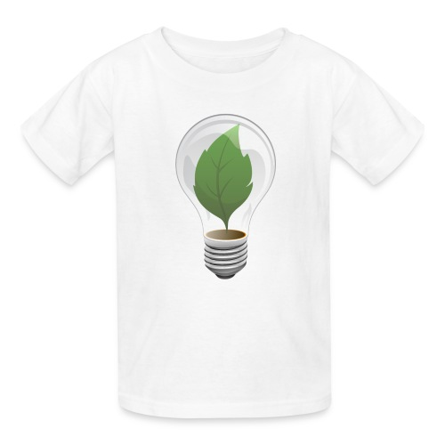 Clean Energy Green Leaf Illustration - Kids' T-Shirt
