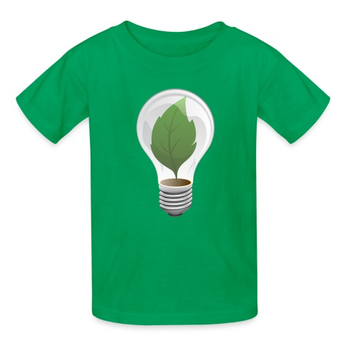 Clean Energy Green Leaf Illustration - Kids' T-Shirt