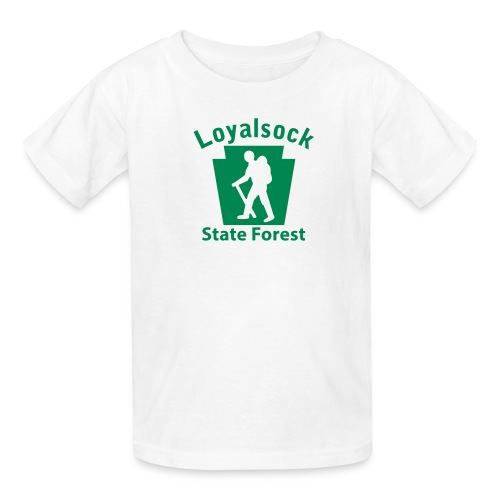 Loyalsock State Forest Keystone Hiker male - Kids' T-Shirt