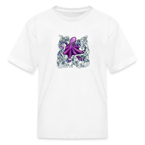 Celtic Octopus - Purple - Kids' T-Shirt