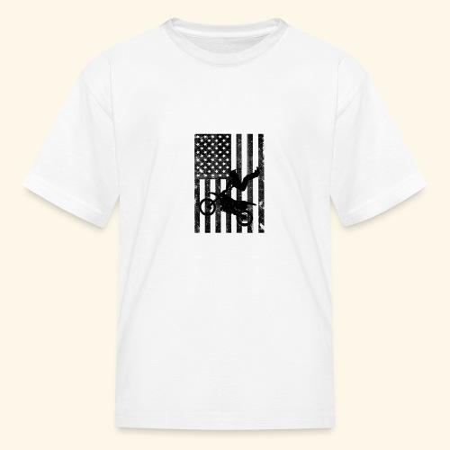 American Flag (Black and white) - Kids' T-Shirt