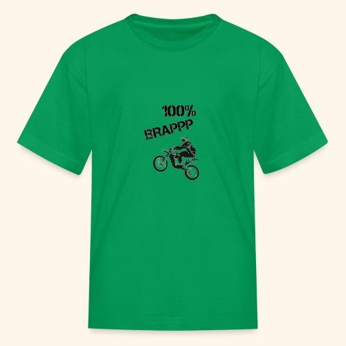 100% BRAPPP (Black and White) - Kids' T-Shirt