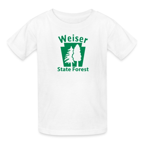 Weiser State Forest Keystone (w/trees) - Kids' T-Shirt