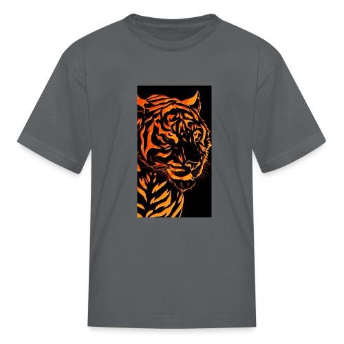 Fire tiger - Kids' T-Shirt