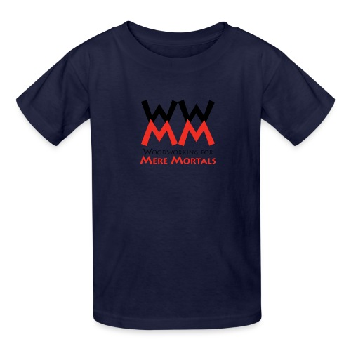 Woodworking for Mere Mortals logo - Kids' T-Shirt