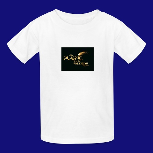 The magic is in the words gold - Kids' T-Shirt