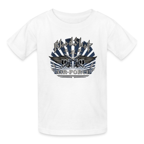 BloodShot Air Force with black - Kids' T-Shirt
