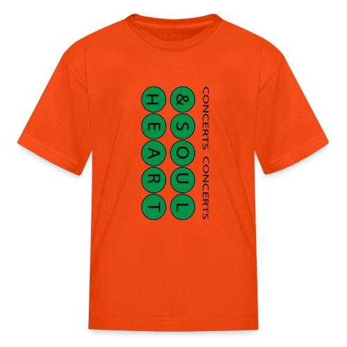 Heart & Soul Concerts text design - Mother Earth - Kids' T-Shirt