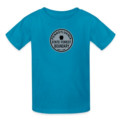 PA State Forest Boundary - Kids' T-Shirt