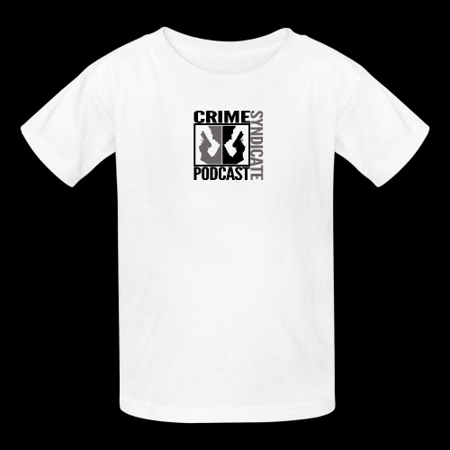 CRIME SYNDIATE PODCAST (No Background) - Kids' T-Shirt