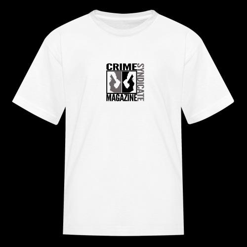 CRIME SYNDIATE MAGAZINE LOGO (No Background) - Kids' T-Shirt