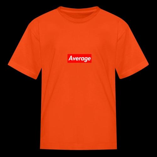 Average Supreme Logo Mockup - Kids' T-Shirt