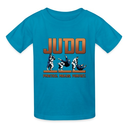 Judo Practice Makes Perfect Design - Kids' T-Shirt