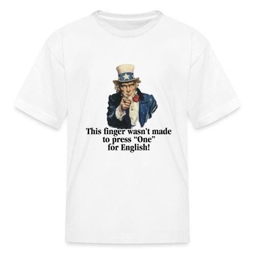 Uncle Sam - Finger - Kids' T-Shirt
