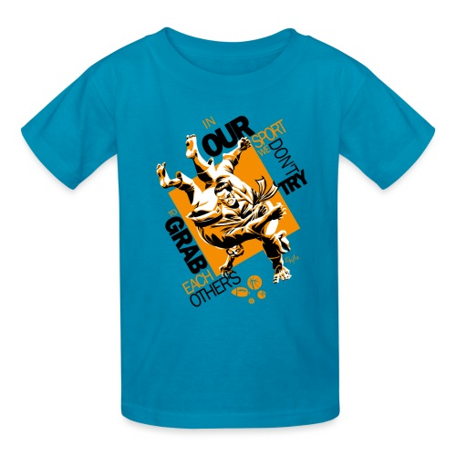 Judo Grab Design for white shirts - Kids' T-Shirt