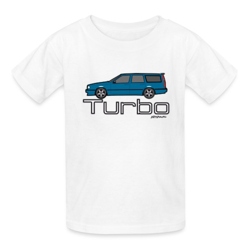 Swedish T5 Turbo Blue Estate Station Wagon - Kids' T-Shirt