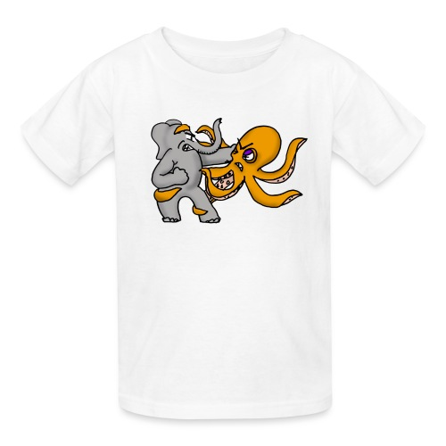 Elephant vs. Octopus Mug - Kids' T-Shirt