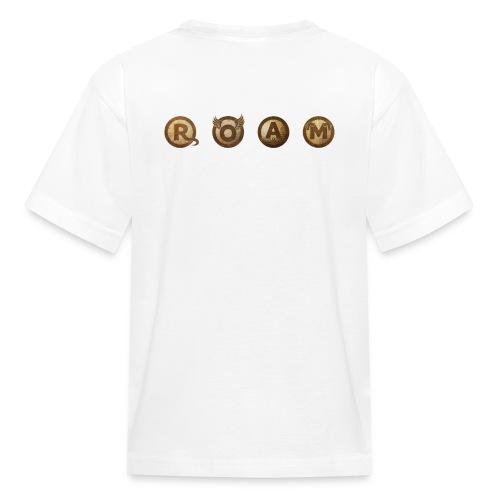 ROAM letters sepia - Kids' T-Shirt